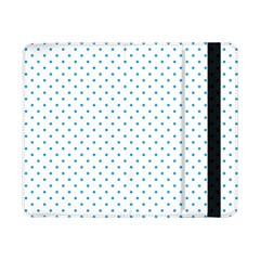 Mini Oktoberfest Bavarian Blue Polkadots On White Samsung Galaxy Tab Pro 8 4  Flip Case by PodArtist
