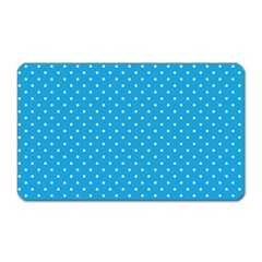 Mini White Polkadots On Oktoberfest Bavarian Blue Magnet (rectangular)