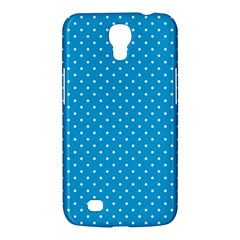 Mini White Polkadots On Oktoberfest Bavarian Blue Samsung Galaxy Mega 6 3  I9200 Hardshell Case by PodArtist