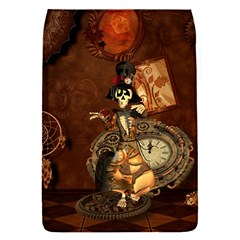 Funny Steampunk Skeleton, Clocks And Gears Removable Flap Cover (s) by FantasyWorld7