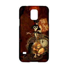 Funny Steampunk Skeleton, Clocks And Gears Samsung Galaxy S5 Hardshell Case  by FantasyWorld7
