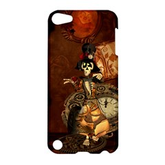 Funny Steampunk Skeleton, Clocks And Gears Apple Ipod Touch 5 Hardshell Case by FantasyWorld7