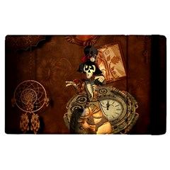 Funny Steampunk Skeleton, Clocks And Gears Ipad Mini 4 by FantasyWorld7