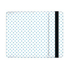 Oktoberfest Bavarian Blue Mini Love Hearts On White Samsung Galaxy Tab Pro 8 4  Flip Case by PodArtist