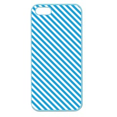 Oktoberfest Bavarian Blue And White Small Candy Cane Stripes Apple Seamless Iphone 5 Case (color) by PodArtist