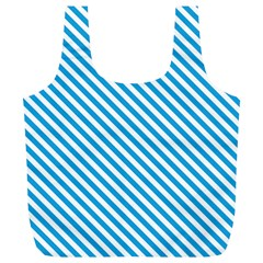 Oktoberfest Bavarian Blue And White Small Candy Cane Stripes Full Print Recycle Bag (xl) by PodArtist