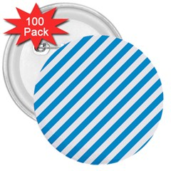 Oktoberfest Bavarian Blue And White Candy Cane Stripes 3  Buttons (100 Pack)  by PodArtist