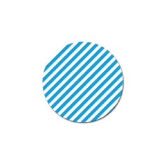 Oktoberfest Bavarian Blue And White Candy Cane Stripes Golf Ball Marker (10 Pack) by PodArtist