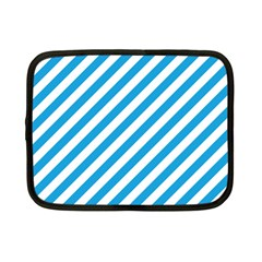 Oktoberfest Bavarian Blue And White Candy Cane Stripes Netbook Case (small)