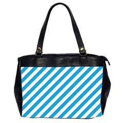 Oktoberfest Bavarian Blue And White Candy Cane Stripes Oversize Office Handbag (2 Sides) by PodArtist