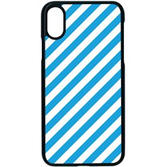 Oktoberfest Bavarian Blue And White Candy Cane Stripes Apple Iphone X Seamless Case (black) by PodArtist