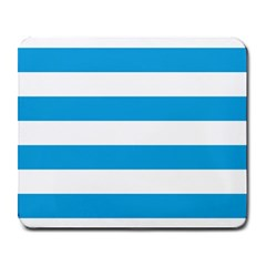 Oktoberfest Bavarian Blue And White Large Cabana Stripes Large Mousepads by PodArtist