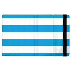 Oktoberfest Bavarian Blue And White Large Cabana Stripes Apple Ipad Pro 9 7   Flip Case by PodArtist