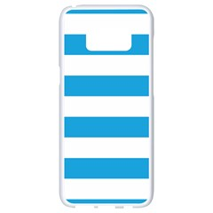 Oktoberfest Bavarian Blue And White Large Cabana Stripes Samsung Galaxy S8 White Seamless Case by PodArtist
