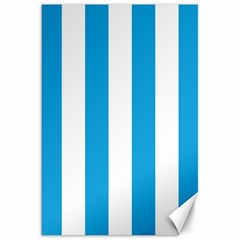 Oktoberfest Bavarian Blue And White Large Cabana Stripes Canvas 20  X 30  by PodArtist