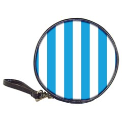 Oktoberfest Bavarian Blue And White Large Cabana Stripes Classic 20 Cd Wallets by PodArtist