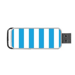 Oktoberfest Bavarian Blue And White Large Cabana Stripes Portable Usb Flash (two Sides) by PodArtist