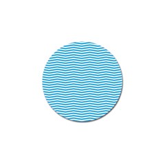 Oktoberfest Bavarian Blue And White Chevron Stripes Golf Ball Marker by PodArtist