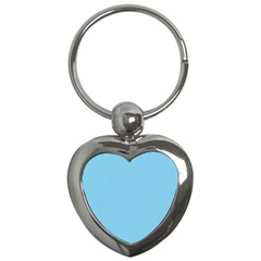 Oktoberfest Bavarian Blue And White Small Gingham Check Key Chains (heart)  by PodArtist
