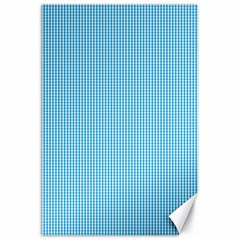 Oktoberfest Bavarian Blue And White Small Gingham Check Canvas 20  X 30  by PodArtist
