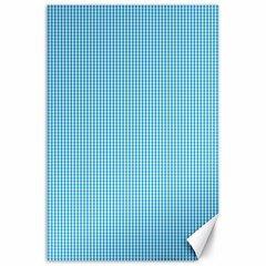 Oktoberfest Bavarian Blue And White Small Gingham Check Canvas 24  X 36  by PodArtist