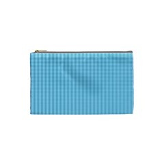 Oktoberfest Bavarian Blue And White Small Gingham Check Cosmetic Bag (small) by PodArtist