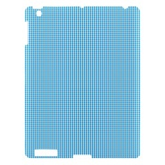 Oktoberfest Bavarian Blue And White Small Gingham Check Apple Ipad 3/4 Hardshell Case by PodArtist