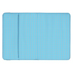 Oktoberfest Bavarian Blue And White Small Gingham Check Samsung Galaxy Tab 8 9  P7300 Flip Case by PodArtist