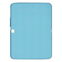 Oktoberfest Bavarian Blue And White Small Gingham Check Samsung Galaxy Tab 3 (10 1 ) P5200 Hardshell Case  by PodArtist