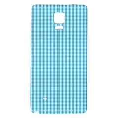 Oktoberfest Bavarian Blue And White Small Gingham Check Samsung Note 4 Hardshell Back Case by PodArtist