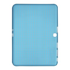 Oktoberfest Bavarian Blue And White Small Gingham Check Samsung Galaxy Tab 4 (10 1 ) Hardshell Case  by PodArtist