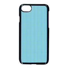 Oktoberfest Bavarian Blue And White Small Gingham Check Apple Iphone 7 Seamless Case (black) by PodArtist