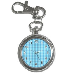 Oktoberfest Bavarian Blue And White Gingham Check Key Chain Watches by PodArtist