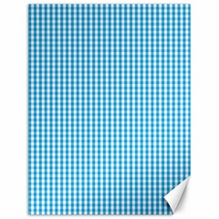Oktoberfest Bavarian Blue And White Gingham Check Canvas 12  X 16  by PodArtist