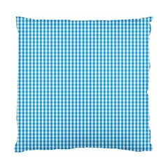 Oktoberfest Bavarian Blue And White Gingham Check Standard Cushion Case (one Side) by PodArtist