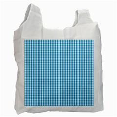 Oktoberfest Bavarian Blue And White Gingham Check Recycle Bag (one Side) by PodArtist
