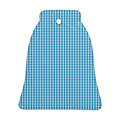 Oktoberfest Bavarian Blue And White Gingham Check Bell Ornament (two Sides) by PodArtist