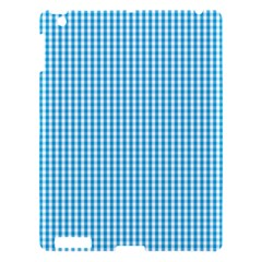 Oktoberfest Bavarian Blue And White Gingham Check Apple Ipad 3/4 Hardshell Case by PodArtist