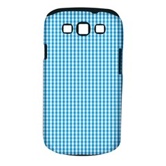 Oktoberfest Bavarian Blue And White Gingham Check Samsung Galaxy S Iii Classic Hardshell Case (pc+silicone) by PodArtist