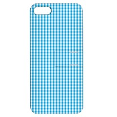 Oktoberfest Bavarian Blue And White Gingham Check Apple Iphone 5 Hardshell Case With Stand by PodArtist