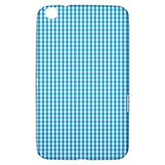 Oktoberfest Bavarian Blue And White Gingham Check Samsung Galaxy Tab 3 (8 ) T3100 Hardshell Case  by PodArtist