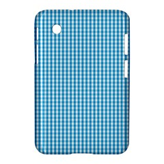 Oktoberfest Bavarian Blue And White Gingham Check Samsung Galaxy Tab 2 (7 ) P3100 Hardshell Case  by PodArtist