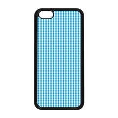 Oktoberfest Bavarian Blue And White Gingham Check Apple Iphone 5c Seamless Case (black) by PodArtist