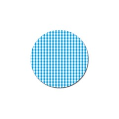 Oktoberfest Bavarian Blue And White Large Gingham Check Golf Ball Marker (10 Pack) by PodArtist