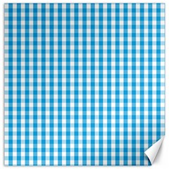 Oktoberfest Bavarian Blue And White Large Gingham Check Canvas 12  X 12  by PodArtist