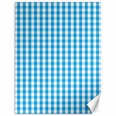 Oktoberfest Bavarian Blue And White Large Gingham Check Canvas 12  X 16