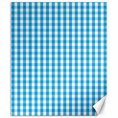 Oktoberfest Bavarian Blue And White Large Gingham Check Canvas 20  X 24  by PodArtist