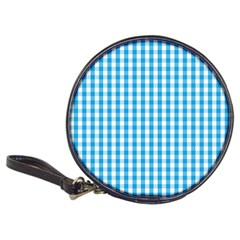 Oktoberfest Bavarian Blue And White Large Gingham Check Classic 20 Cd Wallets by PodArtist