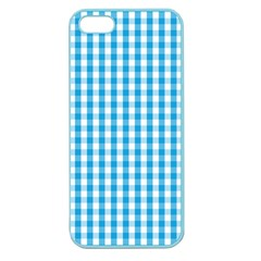 Oktoberfest Bavarian Blue And White Large Gingham Check Apple Seamless Iphone 5 Case (color) by PodArtist