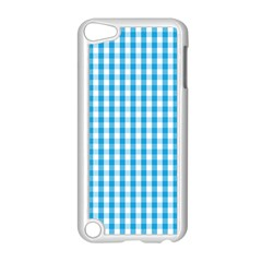 Oktoberfest Bavarian Blue And White Large Gingham Check Apple Ipod Touch 5 Case (white) by PodArtist